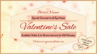 Valentine's Day Sale, Sale Digitalt display (16:9) template
