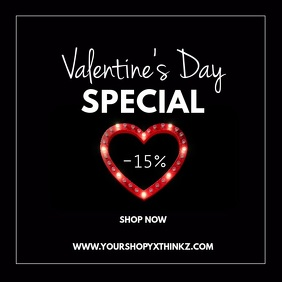 valentine's Day Sale Advert Heart Lights Shop