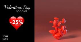 Valentine's Day Sale Advert Video Red Hearts