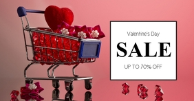 Valentine's Day sale Cover Advert Cart Heart template