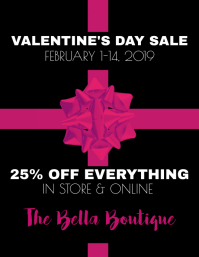 Valentine's Day Sale Flyer (US Letter) template