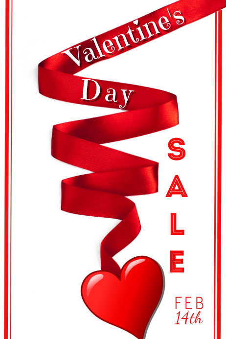 Valentine's Day Sale Plakat template