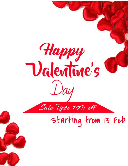 Valentine's Day Sale Løbeseddel (US Letter) template