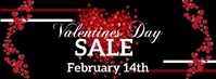 Valentine's Day Sale Facebook-omslagfoto template
