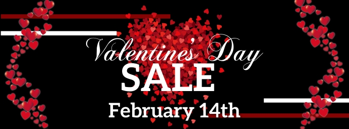Valentine's Day Sale Facebook-coverfoto template
