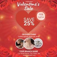 Valentine's Day Sale Square (1:1) template