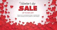 Valentine's day sale Immagine condivisa di Facebook template