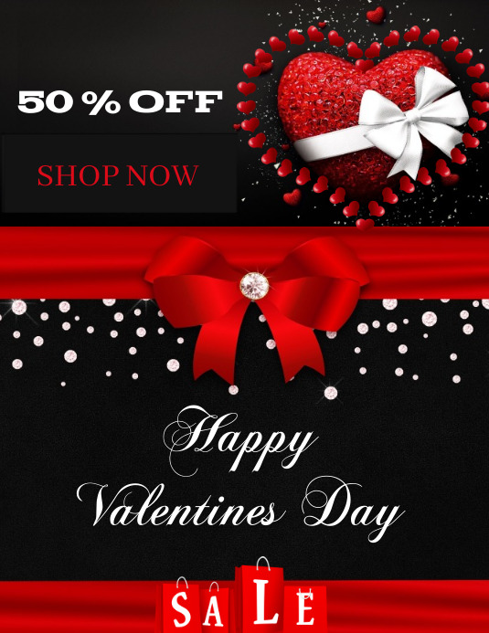 Valentine's Day Sale Flyer (Letter pang-US) template