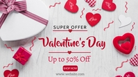 Valentine's day sale Ecrã digital (16:9) template