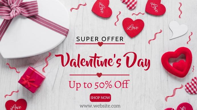 Valentine's day sale Digitalt display (16:9) template