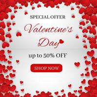 Valentine's Day Sale Publicación de Instagram template