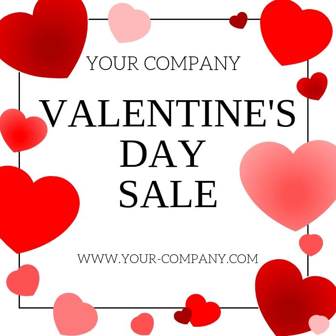 Valentine's Day Sale โพสต์บน Instagram template
