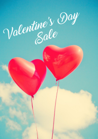Valentine's Day Sale A4 template