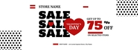 Valentine's Day Sale Facebook Cover Photo template