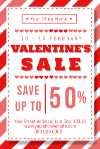 Valentine's Day Sale Flyer Poster Template
