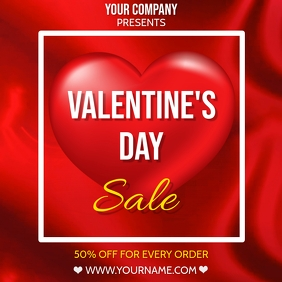 VALENTINE'S DAY SALE FLYER TEMPLATE