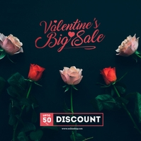Valentine's Day Sale Instagram Post Обложка альбома template