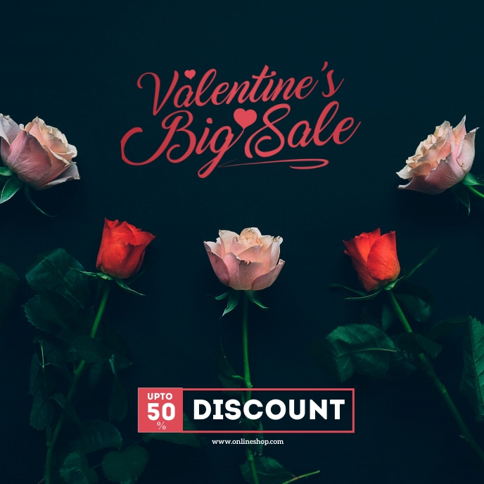Valentine's Day Sale Instagram Post Sampul Album template