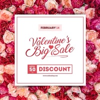 Valentine's Day Sale Instagram Post Album Cover template