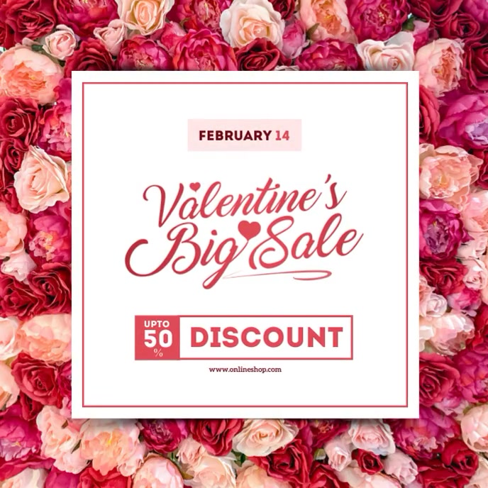 Valentine's Day Sale Instagram Post Albumcover template