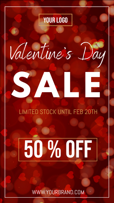 Valentine's day sale instagram story template