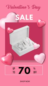 Valentine's day sale instagram story Status WhatsApp template