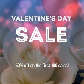 Valentine's Day Sale Post 专辑封面 template