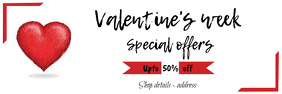 valentine's day sale poster/banner template