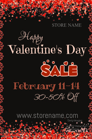 Valentine's Day Sale Poster Template