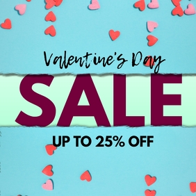 Valentine's day Sale Price Off Advert Hearts