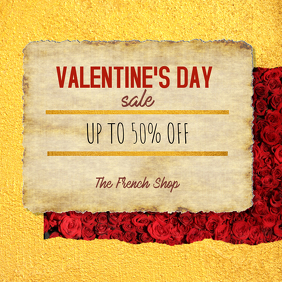 Valentine's Day Sale Retail Ad Gold Instagram