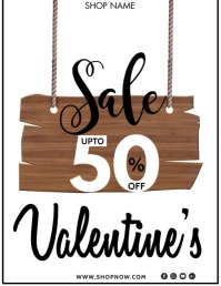 Valentine's Day Sale Template Pamflet (VSA Brief)