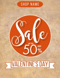 Valentine's Day Sale Template Flyer (US Letter)