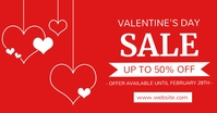valentine's day sale template design advertis Facebook-annonce