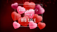Valentine's Day Sale Video Ads Digitalt display (16:9) template