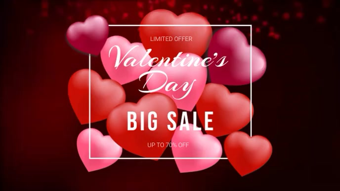 Valentine's Day Sale Video Ads Umbukiso Wedijithali (16:9) template