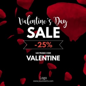 Valentine's Day Sale Video Advert Square Shop Квадрат (1 : 1) template
