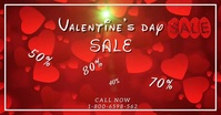 Valentine's Day Sale Video Facebook Template