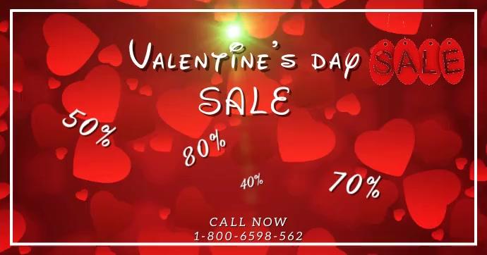 Valentine's Day Sale Video Facebook Template