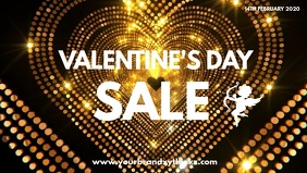 Valentine's Day Sale Video Golden Advert Amor