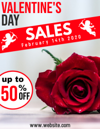 Valentine's day sales 2020 Flyer (US-Letter) template