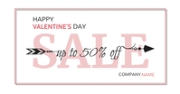 Valentine's day sales advertisement design te Facebook-annonce template