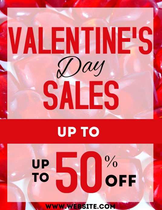 Valentine's day sales advertisement