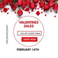 Valentine's day sales Сообщение Instagram template