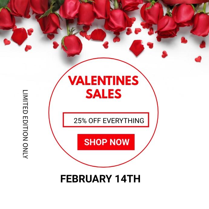 Valentine's day sales Instagram-opslag template