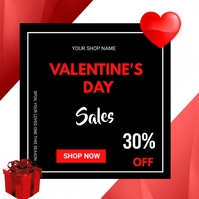 Valentine's day sales Квадрат (1 : 1) template