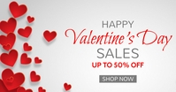 valentine's day sales facebook advertisement Facebook-annonce template