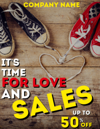 Valentine's day sales retail flyer advertisem template