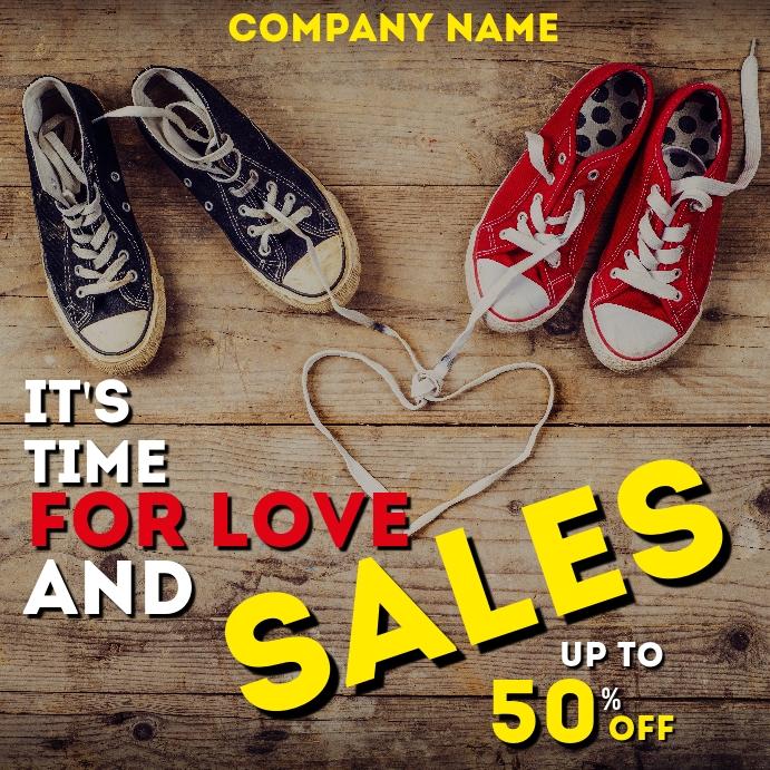 Valentine's day sales retail instagram post