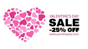 Valentine's Day saole Video Advert Cover Ad